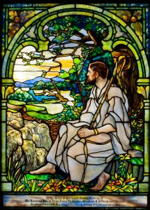 Tiffany stained-glass window, St. Peter's Chapel, Mare Island, Vallejo, Calif.