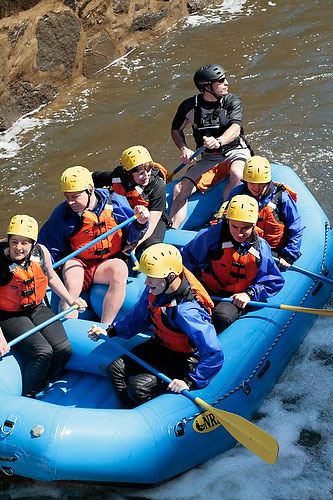 White Water Rafting Concord River in Lowell