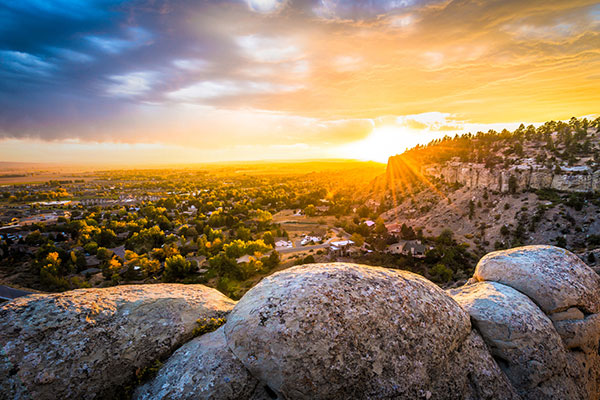 Sunset from atop the Rimrocks overlooking Billings