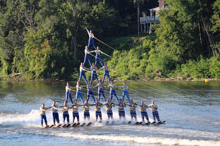 Rock Aqua Jays Water Ski Show, Janesville, Wis.