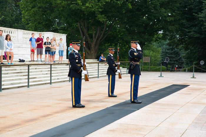 The Changing of the Guard at Arlington National Cemetary, Arlington, Va.