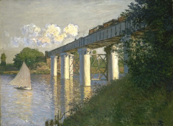 Railroad Bridge, Argenteuil, 1874, Philadelphia Museum of Art, Philadelphia, Pa.
