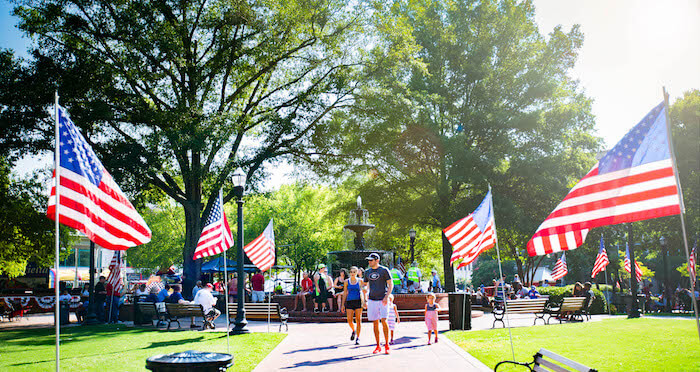 Marietta Square in Marietta, Georgia