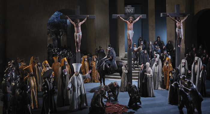 Passion Play, Crucifixion, Oberammergau, Germany